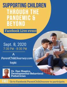 Flyer: Facebook Live Event - September 2020